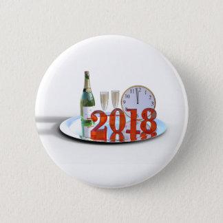 Badge Le bouton de la bonne année 2018