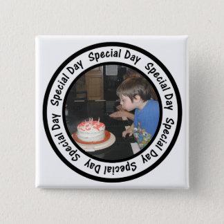 Badge Le cercle spécial de cadre de jour ajoutent votre