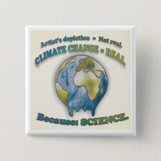 Badge Le changement climatique est vrai - bouton