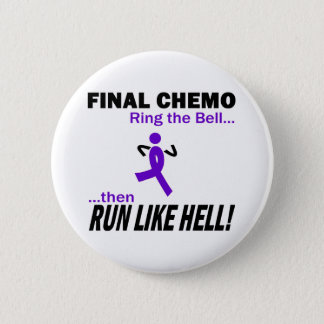 Badge Le chimio final courent beaucoup - le ruban violet