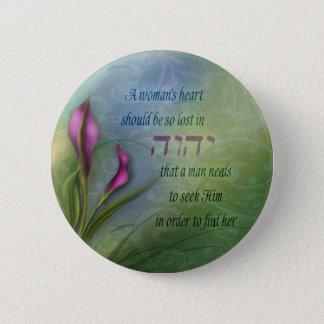 Badge Le coeur d'une femme - zantedeschia