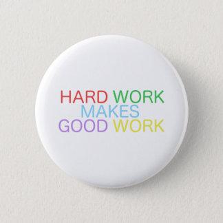 Badge Le dur labeur fait le bon travail