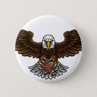 Badge Le football américain d'Eagle folâtre la mascotte