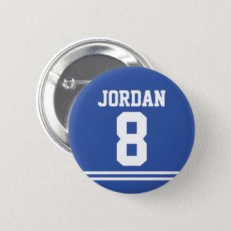 Badge Le football bleu Jersey avec le nom et le nombre