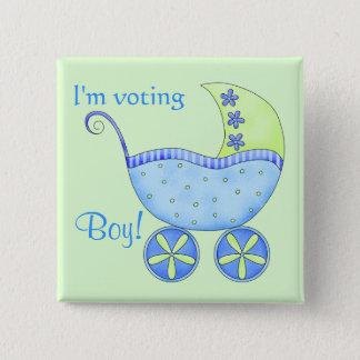 Badge Le genre de vote de garçon de bébé indiquent le