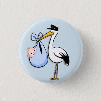 Badge Le genre indiquent le tissu de bleu de cigogne