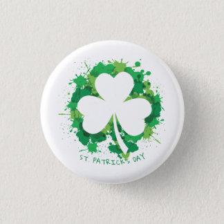 Badge Le jour de St Patrick. Silhouette chanceuse de