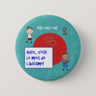 Badge Le macaron de rond de l'autisme c'est d'Avril le