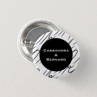 Badge Le mariage blanc noir (de pêche) a placé le bouton
