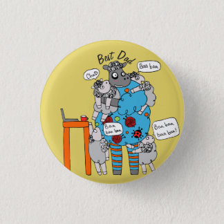 Badge Le meilleur bouton de bêlement de bêlement de papa