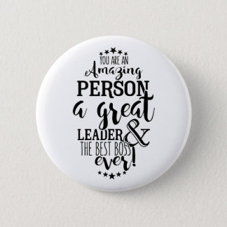 Badge Le meilleur insigne de bouton de patron jamais