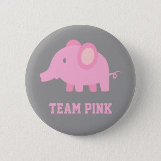 Badge Le rose d'équipe, éléphant de bébé, genre