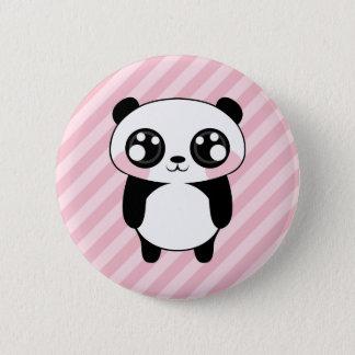 Badge Le rose mignon d'ours panda barre l'arrière - plan