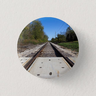 Badge Le train de chemin de fer dépiste la photo