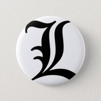 Badge Le vieil anglais de L-texte