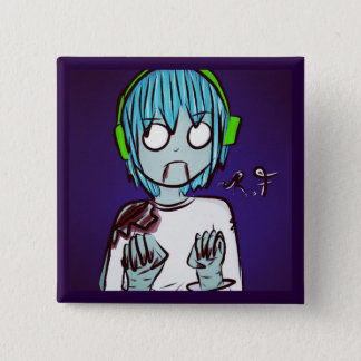 Badge Le zombi badine le Pin : Garçon de Gamer