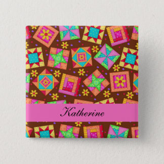 Badge L'édredon de patchwork brun chocolat bloque le