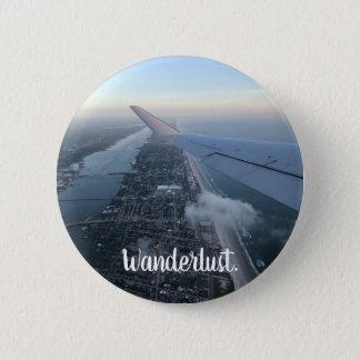 Badge L'envie de voyager, voyage, explorent le bouton