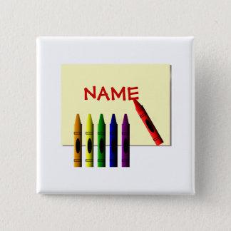 Badge Les crayons colorent mon bouton nommé