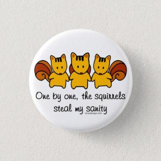Badge Les écureuils volent ma santé d'esprit