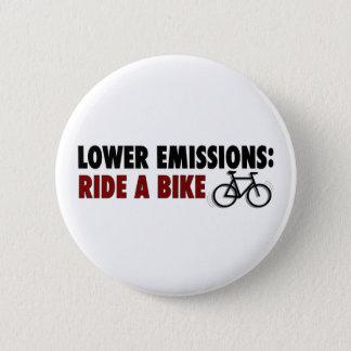 Badge Les émissions inférieures montent un vélo