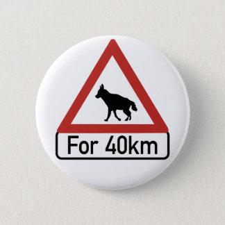 Badge Les hyènes 2 de précaution, trafiquent le panneau