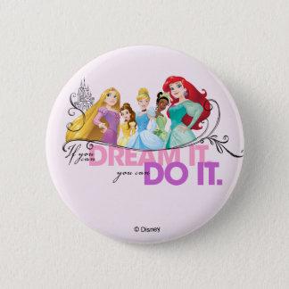 Badge Les princesses de Disney | n'abandonnent jamais
