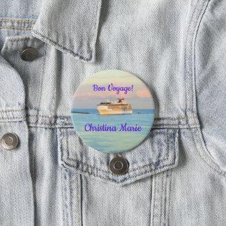 Badge Lever de soleil en pastel avec le voyage de fève