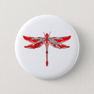 Badge Libellule rouge