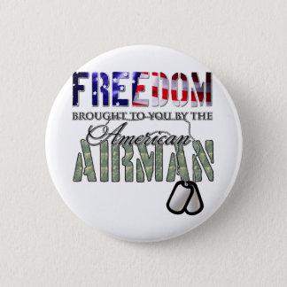 Badge Liberté - apportée à vous par l'aviateur américain