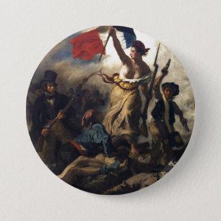 Badge Liberté menant les personnes