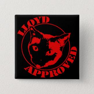 Badge Lloyd a approuvé le bouton carré