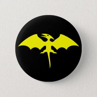 Badge Logo de super héros de dinosaure de ptérodactyle