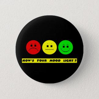 Badge Lumière déprimée horizontale d'humeur de feu