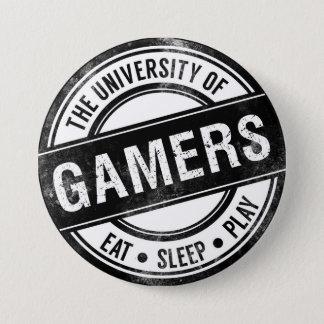 Badge L'université du bouton drôle de Gamers