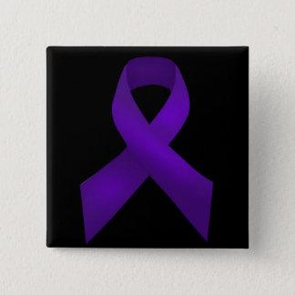 Badge Lupus pourpre de conscience de ruban