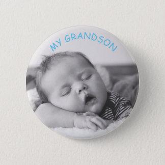 Badge Ma photo de bébé de petit-fils et bouton faits sur