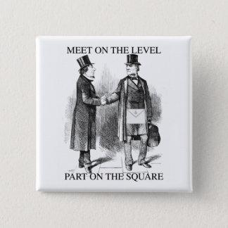 Badge Maçons séparant sur le carré