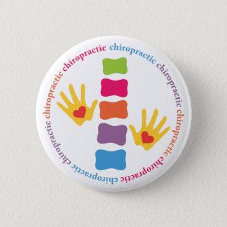 Badge Mains de chiropractie et bouton d'épine