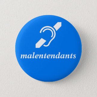 Badge malentendants - Français, sourds