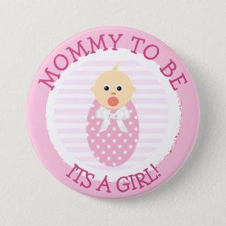 Badge Maman à être, bouton nouveau-né de baby shower de