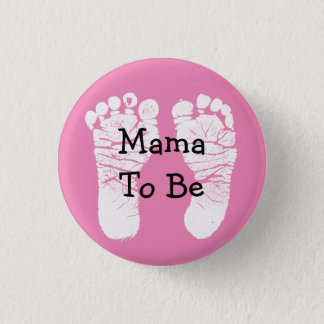 Badge Maman à être bouton rose de baby shower de