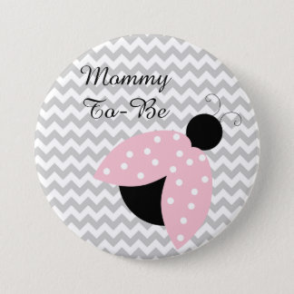 "Badge ""Maman à être"" bouton rose de baby shower de"