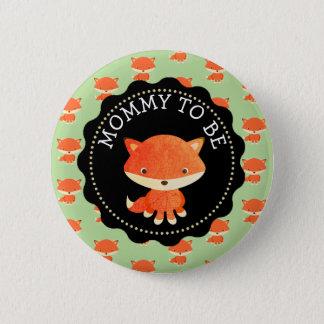 Badge Maman à être thème de régions boisées de bouton