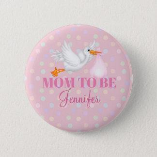 Badge Maman customisée de cigogne à être bouton de baby