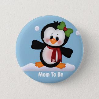 Badge Maman customisée de pingouin à être bouton de baby