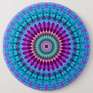 Badge Mandala géométrique G382 de bouton