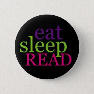 Badge Mangez, dormez, LISEZ - rétro