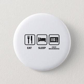 Badge Mangez les micro-ondes d'entaille de sommeil