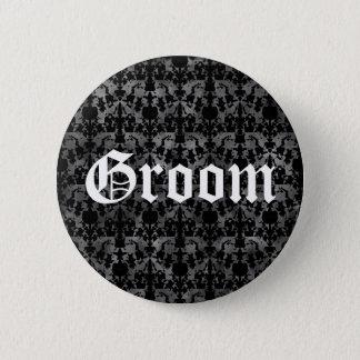 Badge Marié gothique élégant